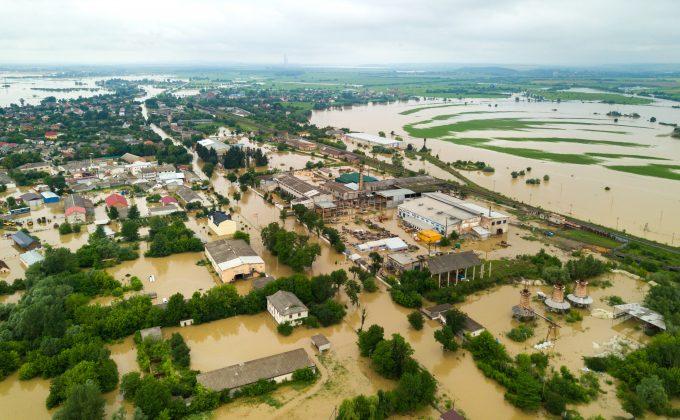 Hochwasser, Zerstörung, Häuser, Wasser, Katastrophe